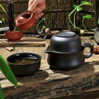 kungfu tea set for travel yixing zisha tea set purple clay tea pot tea cup china