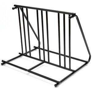 HD Steel 1-6 Bikes Floor Mount Bicycle Park Storage Parking Rack Stand 2 3 4 5