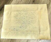"Vintage 1976 National Paragon Corp Unfinished Crewel Floral 20"" X 25"""