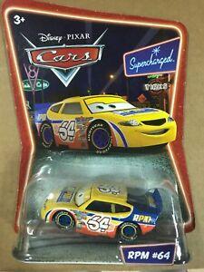 Disney Pixar Cars RPM 64 Metal Mattel 1.55 Scale Sealed Rare