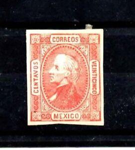 Mexico Stamps-Scott # 95/A8-25c-Mint/LH-1872-OG-IMP