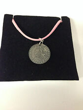 ELIZABETH 1 REFE1SCP  Pewter PENDENT ON A PINK CORD Necklace Handmade