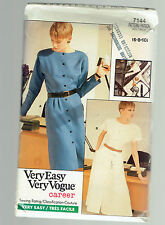VOGUE PATTERN Dress 7144  sz 6 8 10  factory folded uncut