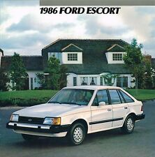 1986 Ford ESCORT Brochure with Color Chart: Pony,Station Wagon, L select, GT, LX