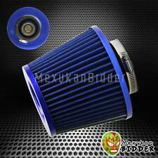 3'' Inlet Blue Short Ram/Cold Intake High Flow Mesh Cone Air Filter Fit Universa