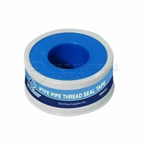 "Everflow White Plumbers Tape, Teflon, Thread Seal, PTFE Tape - 1/2"" x 260"""