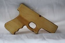 Wooden Toy Gun (life-size based on a Glock 19), Hand Made in the USA
