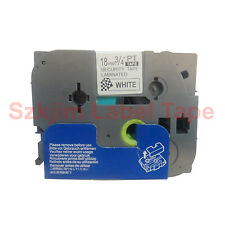 TZ-SE4 Security Black on white Label Tape 18mm 8m Compatible to Brother TZe-SE4