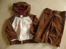 girls 2 PC OUTFIT baby gap VELOUR TRACK SET outfit JACKET PANTS cute 6-12 MONTHS