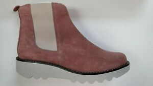 Sanita Carina Pink Suede boots - rubber outsole - Size EU 39 (US 8 - 8.5) New!