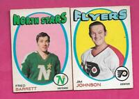 1971-72 OPC FLYERS  JOHNSON  + STARS BARRETT  RC  CARD  (INV# J0511)