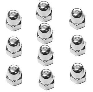A2 M10 x 1.25 Metric Fine Dome Nuts (Packs of ten) - Multi-Listing