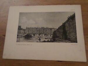 Altes Papier-, Antike Seite Kunstdrucke Der Brücke Zur Change After Nicolle 1784