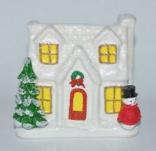 BATH & BODY WORKS CERAMIC HOLIDAY HOME COTTAGE HOUSE FOAMING DEEP SOAP HOLDER