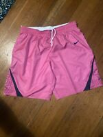 Nike Authentic Virginia Cavaliers Basketball Shorts Mens Large 36 2017-18 Pink