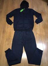 2018 Men's Hugo Boss Tracksuit Set zipped jacket& bottoms Navy xxl saggy