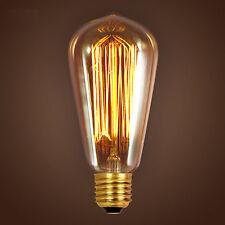 Edison Squirrel Cage Filament Vintage Antique E27 Light Bulb 110V ST64 Droplight