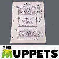 THE MUPPETS - Production Used Storyboard - Kermit in Theater 92-15
