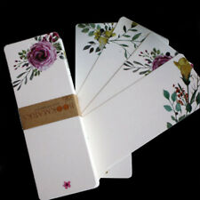 40pcs/set Vintage Floral Paper Blank DIY Bookmarks Gifts Tags Postcard Card