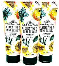 Bath And Body Works Clementine & Mint Leaves Body Cream 8.0 Fl Oz (Set Of 3)