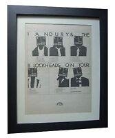 IAN DURY+Boots Panties+TOUR+POSTER+AD+RARE ORIGINAL 1978+FRAMED+FAST GLOBAL SHIP