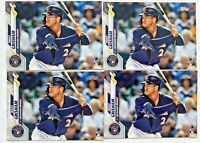 (4) TRENT GRISHAM 2020 Topps Series 1 #9 Rookie RC Card San Diego Padres LOT