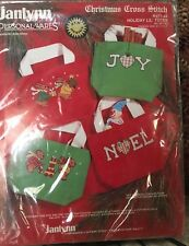 Janlynn Personal Ware Christmas Cross Stitch Holiday LIL Totes #977-44