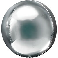 Silver Party Supershape Helium Orbz Balloon 16 Inches All Party Events