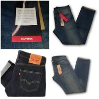 NEW MENS LEVIS 511 PREMIUM SLIM FIT SELVEDGE DENIM JEANS PANTS ALL SIZES