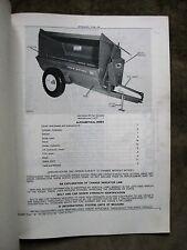 John Deere 85 Flail Manure Spreader Parts Catalog Manual ORIGINAL