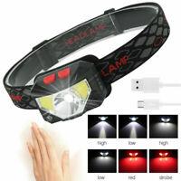 5000LM COB LED Headlamp Motion Sensor USB Rechargeable Head Torch 6 Modes Light