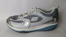 Skechers Shape Ups Womens 8.5 M Shoes Blue Silver 12320 Trainer Tone Up Walking
