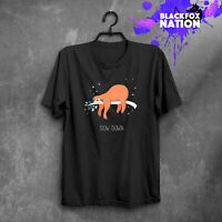 Slow Down Sloth Funny Printed Short Sleeve T-Shirt Tumblr Gift Sloth Tee Shirt