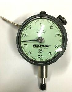 "Mahr Federal B8I Dial Indicator, 0-.250"" Range, .001"", Thumb Lever"