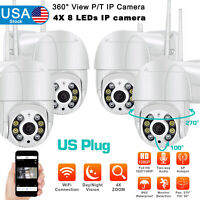 ICSEE 360° CCTV Wireless IP Camera Outdoor WiFi 1080P HD Home Security IR Cam US