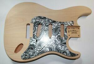leicht US red alder Strat Body Korpus HSS SSS Tremolo 60 er Gitarrenbau 1,598 Kg