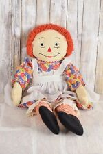 Vintage Raggedy Ann Doll Orange Red Hair