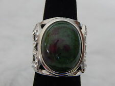 Ruby Zoisite  Ring   ,  Size 6     TGW-  10.0  Cts.