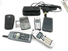 Lot of 5 Vintage Phones for Parts sold As Is Iphone Blackberry Uniden Ericsson