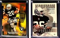 Napoleon Kaufman Signed 1998 SkyBox Thunder #11 Card Oakland Raiders Autograph