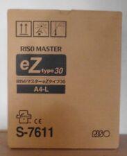 Riso S-7611  Master Rollen Z type 30 A4-L 2erPack für EZ 200 230 300  OVP A