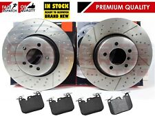 FOR BMW 3 4 SERIES F30 F34 F32 F36 2012- FRONT DIMPLED GROOVED BRAKE DISCS PADS