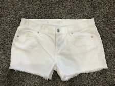 LOFT Denim Shorts Sz 8 Cut-off White