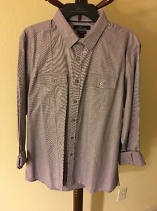New Marc Anthony Size L Slim Fit Shirt Purple Haze MSRP $54
