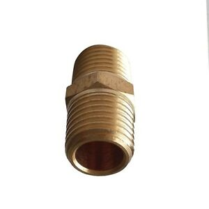 """3/8"""" BSPP Equal  Hex Nipple Connector  Brsss Pipe Fitting"""