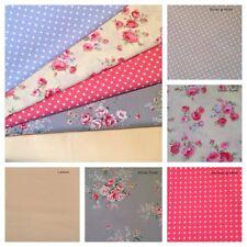 10 Piece Silver & Lemon Bundle100% Cotton Floral Fabric Material Remnant.