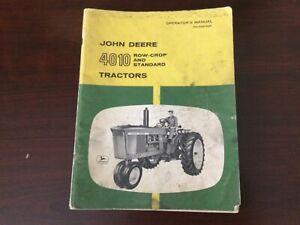 John Deere 4010 Row Crop and Standard Tractors Operator's Manual