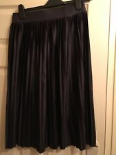 M&S Black Pleated Skirt (worn Once) Size 10