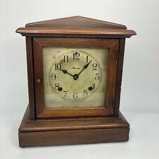 New ListingAnsonia Clock Co. Ny Wooden Mantel Clock - Wood & Glass Case - No Key