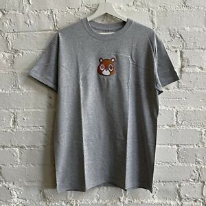 Actual Fact Kanye West New Dropout Bear Embroidered Heather Grey Tee T-shirt
